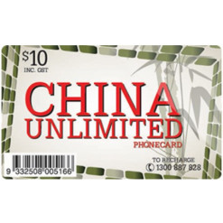 $10 China Unlimited Calling...