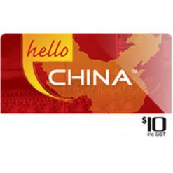 $10 Hello China Calling Card