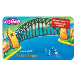 $10 Say G'Day Calling Card